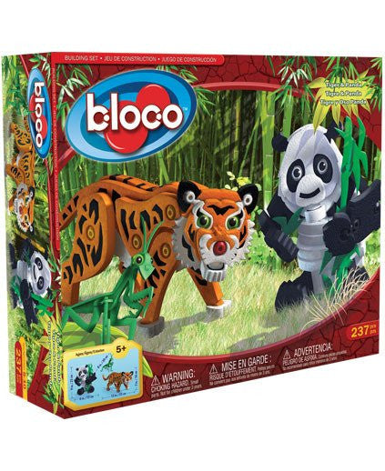 Tiger & Panda Foam Blocks By Bloco - Bloxx Toys - Toronto Online Toys Store - 1