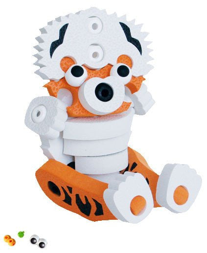 Tiger & Panda Foam Blocks By Bloco - Bloxx Toys - Toronto Online Toys Store - 4