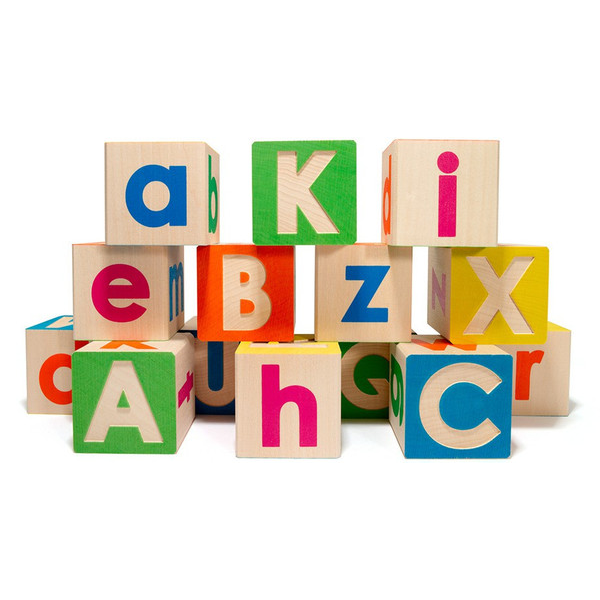 Uncle Goose Upper and Lower Case ABC Blocks - Bloxx Toys - Toronto Online Toys Store - 1