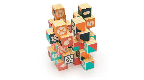 Uncle Goose Groovie Math and Patterning Blocks - Bloxx Toys - Toronto Online Toys Store - Canada