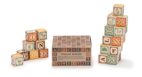 Uncle Goose Italian Language Blocks - Bloxx Toys - Toronto Online Toys Store - Canada