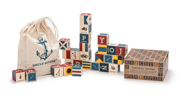 Uncle Goose Nautical Block Set with Canvas Bag - Bloxx Toys - Toronto Online Toys Store - 4