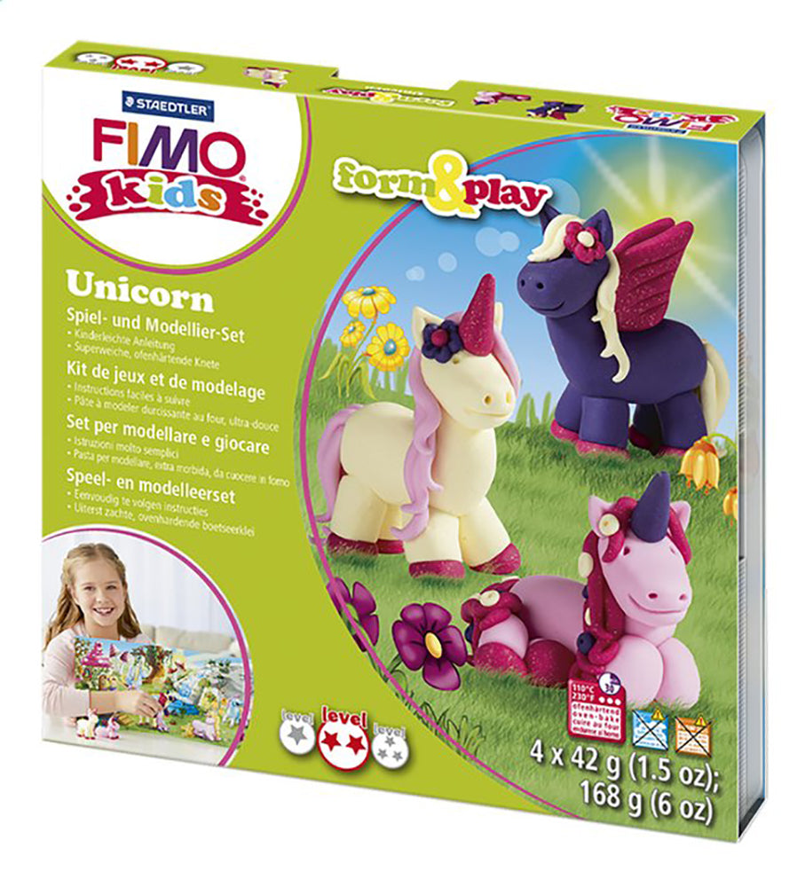 Unicorns Play Modelling Kit By Fimo  BloxxToys Canada