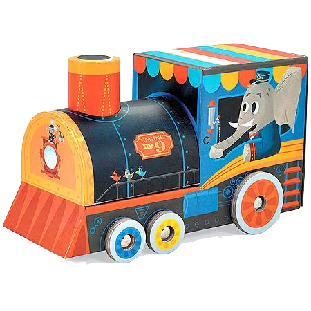 Locomotive Puzzle & Play Set - 24 pc - Bloxx Toys - Toronto Online Toys Store - 1