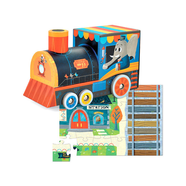 Locomotive Puzzle & Play Set - 24 pc - Bloxx Toys - Toronto Online Toys Store - 5