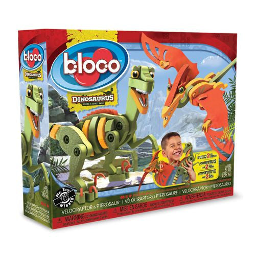 Velociraptor and Pterosaur Foam Blocks By Bloco - Bloxx Toys - Toronto Online Toys Store - 1