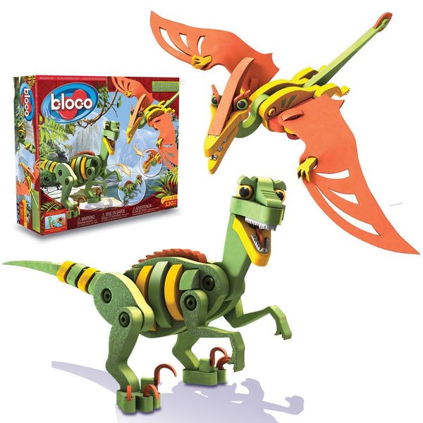 Velociraptor and Pterosaur Foam Blocks By Bloco - Bloxx Toys - Toronto Online Toys Store - 2