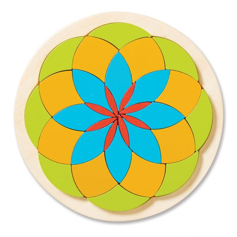Wooden Mosaic Flower By MindWare - Bloxx Toys - Toronto Online Toys Store - 1