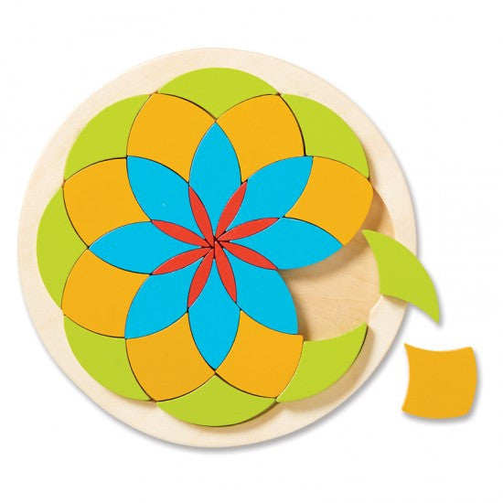 Wooden Mosaic Flower By MindWare - Bloxx Toys - Toronto Online Toys Store - 2