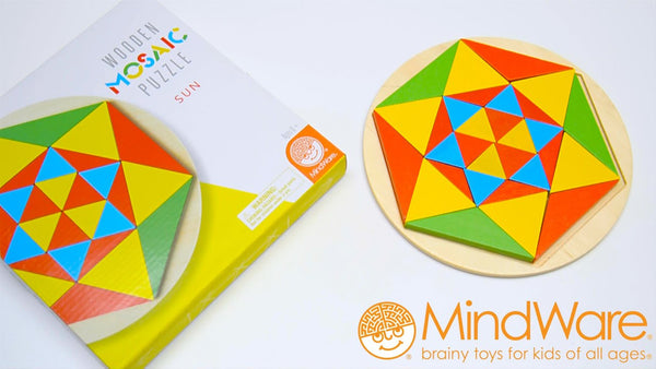 Wooden Mosaic Puzzle By MindWare - Bloxx Toys - Toronto Online Toys Store - 4