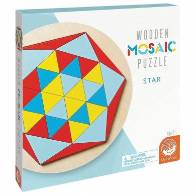 Wooden Mosaic Star By MindWare - Bloxx Toys - Toronto Online Toys Store - 1