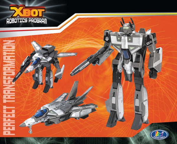 Xbot Fighter Jet by Happy Well Bloxx toys, autistic toys, educational toys,transformer toys,car toys,Regina,Toronto,Ottawa,barrie,Vancouver