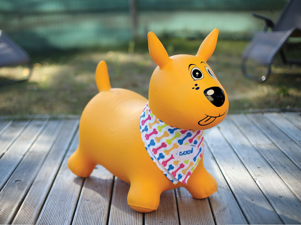 Yellow Bouncing Dog By LUDI | Toys Canada | BloxxToys