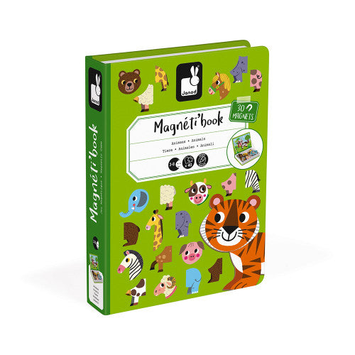 MAGNETIBOOK Animals educational magnetic puzzle/game Book By Janod
