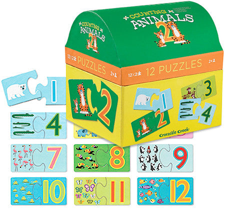 Counting Animals/First Puzzles 2 pc/12 puzzles - Bloxx Toys - Toronto Online Toys Store - 3