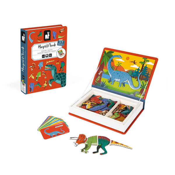 MAGNETIBOOK - DINOSAURS educational magnetic puzzle/game Book By Janod