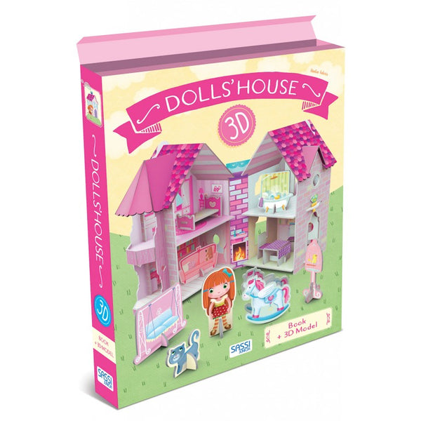 3D Puzzle and Book - Dollhouse By Sassi - Bloxx Toys - Toronto - Educational Online Toys Store,Book, Educational Puzzles Canada