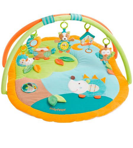 Activity Playmat Forest Learning Carpet with 5 removable baby toys By Fehn