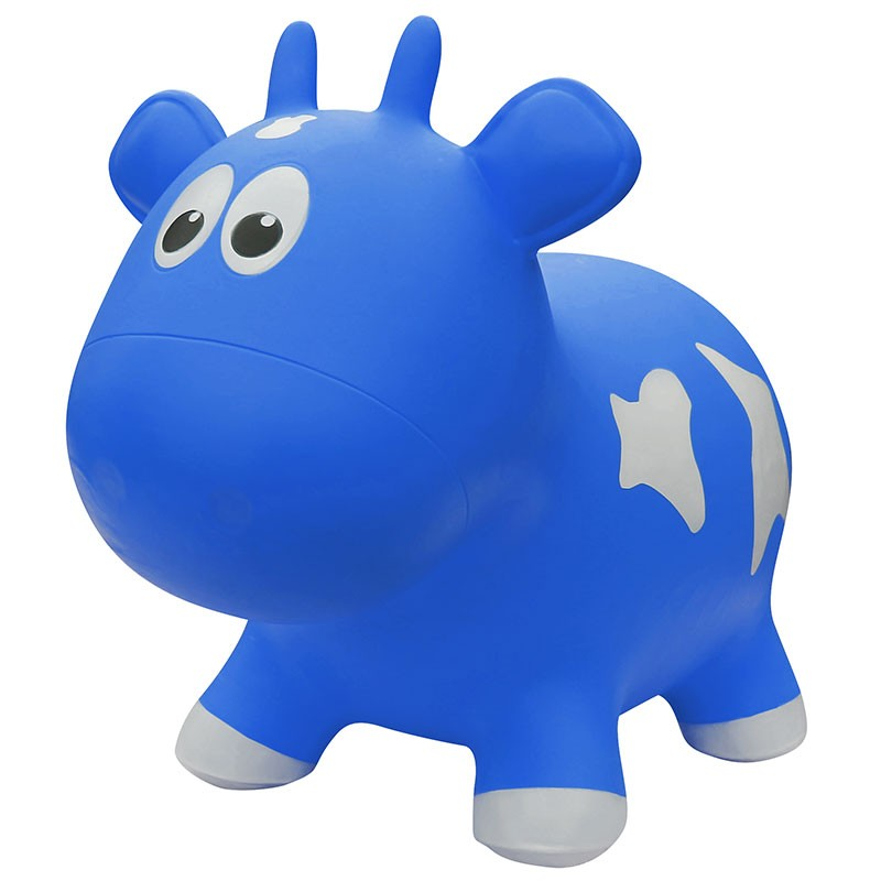 Farm Hoppers Animal Bouncers - Jumping Cow Blue