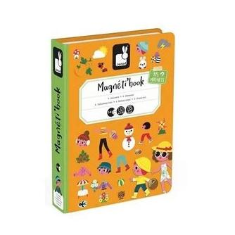 4 Seasons educational magnetic puzzle/game Book By Janod
