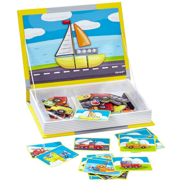 Cars and Vehicles Magnetic Book By Janod - Bloxx Toys - Toronto Online Toys Store - 3