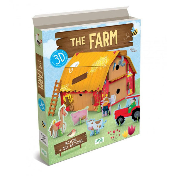 3D Puzzle and Book - Farm By Sassi - Bloxx Toys - Toronto - Educational Online Toys Store,Book, Educational Puzzles Canada