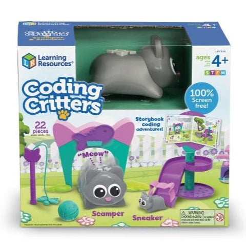 Coding Critters Scamper & Sneaker the Cat Version