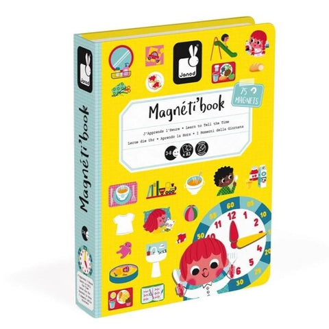 MAGNETIBOOK Learn to Tell Time educational magnetic puzzle/game Book By Janod