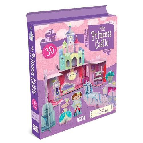 3D Puzzle and Book - Princess Castle By Sassi - Bloxx Toys - Toronto - Educational Online Toys Store, Science Kit, Canada