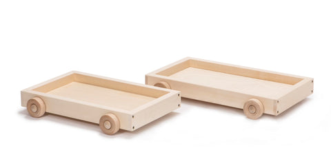 Uncle Goose Wooden Wagon for 28 Blocks