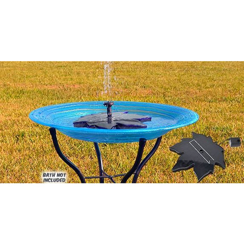 Floating Leaf Solar Bird Bath Bubbler (birdbath not included)