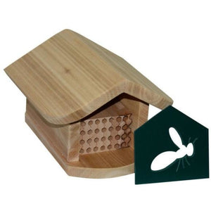 Mason Bee Cosy Home with Wooden Trays