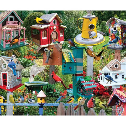 Bird House Village 550 Piece Puzzle