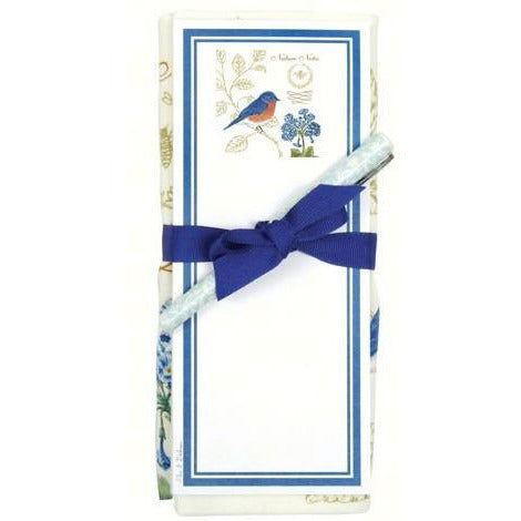 Bluebird Flour Sack Towel and Magnetic Note Pad Set