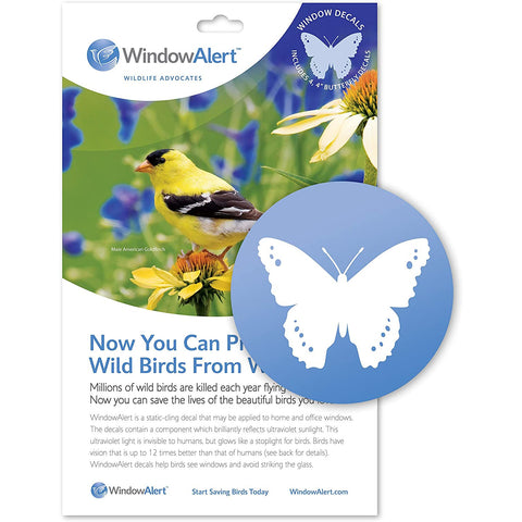 Butterfly Window Alert Window Decals-Set of 8 Decals