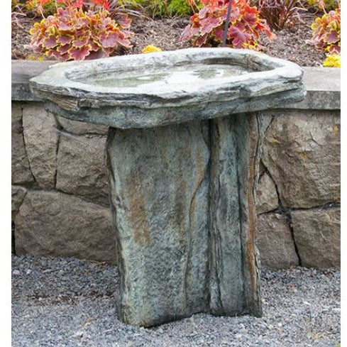 Slate Bird Bath from Cast Art Studios
