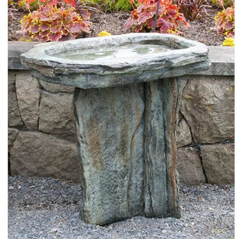 Image of Slate Bird Bath from Cast Art Studios