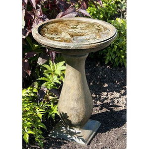 Frog Bird Bath from Cast Art Studios