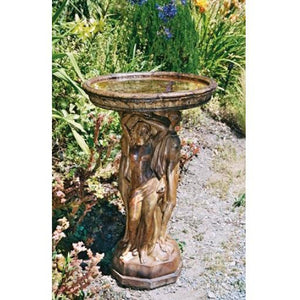 Three Graces Bird Bath from Cast Art Studios