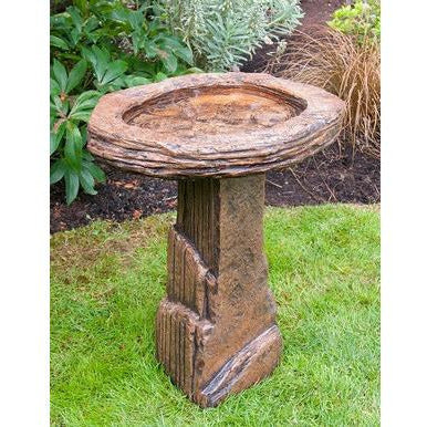 Fossil Bird Bath from Cast Art Studios
