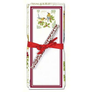 Cedar Waxwing Flour Sack Towel and Magnetic Note Pad Set