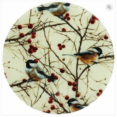 Andreas Silicone Trivet - Chickadees