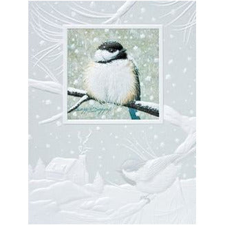 Pumpernickel Press Christmas Cards Chilly Chickadees II