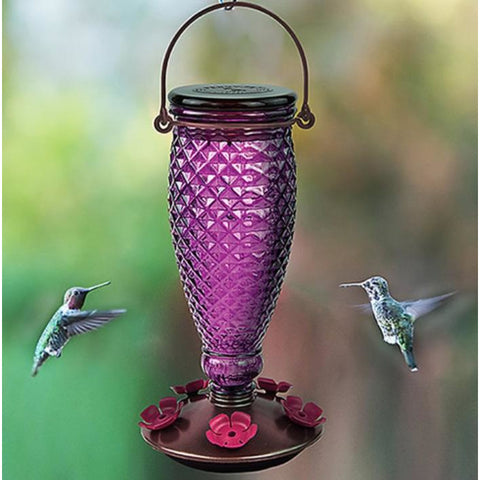 Diamond Wine Top-Fill Hummingbird Feeder