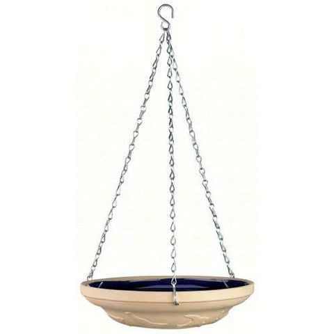 Image of Gardman Glazed Ceramic Hanging Bird Bath