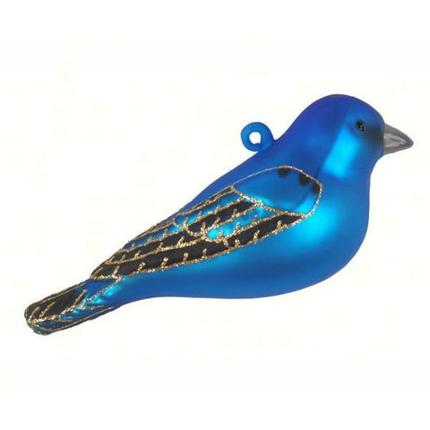 Indigo Bunting Ornament from Cobane