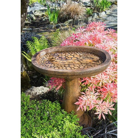 Image of Lady of the Lake Bird Bath from Cast Art Studios