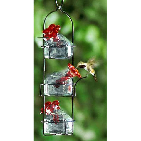 Parasol Bouquet Lunch Pail 3 Hummingbird Feeder