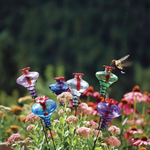Image of Parasol Mini Blossom Stake Hummingbird Feeder