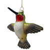Male Rubythroat Hummingbird Ornament from Cobane C448